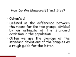 cohen s d effect size chart statistical power and sample size calculations ppt video online