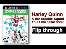 harley quinn the squad coloring book flip through