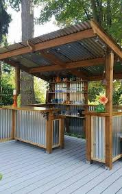 outdoor kitchen storage attractive covered grill area cylinder purple minimalist wooden