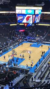 Oklahoma City Thunder Arena Seating Chart Chesapeake Energy Arena Oklahoma City Thunder Chesapeake
