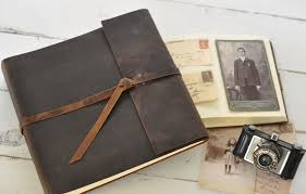 Photot Albums Leather Rustic Album Distressed Custom Design By Blue Sky Papers