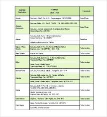 Word Travel Itinerary Template Example Vacation Trip Schedule Template Bus Route Planner
