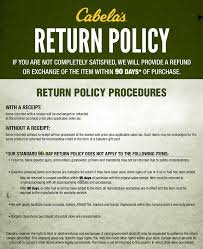 Return Policy Cabelas