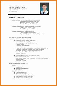 10 Sample Of Resume In The Philippines Buyer Resume