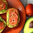 avocado and tomato sandwiches