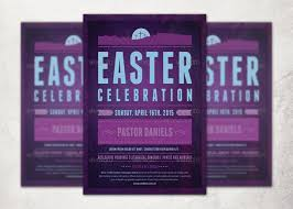 Easter Celebration Church Flyer Template | Inspiks Market