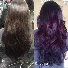 Instagram: naener_ BOX DYED COLOR to deep purple balayage | Hair ...