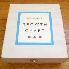 Bump Smitten Baby Shower Gift Handcrafted Growth Chart