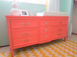 Coral Dresser and Changing Table in Nursery - #paintedfurniture ...