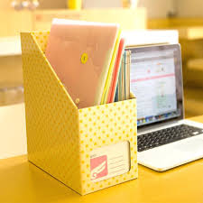 desk storage accessories stationery holder desktop storage box waterproof paper storage orange polka office desk