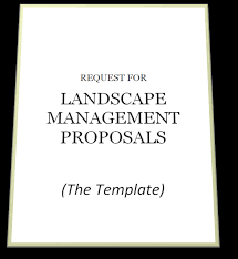 landscape maintenance proposal template free landscape rfp template