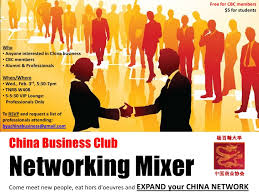 networking flyer byu china business club networking mixer flyer
