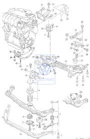 front engine carrier for the golf mk3 vr6 main image for 00 1h0199200n