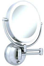 wall mounted led makeup mirror awesome lighted makeup mirror wall mount battery operated for battery operated