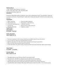 Bank Teller Resume Samples Free. Bank Teller Resumes Examples ...