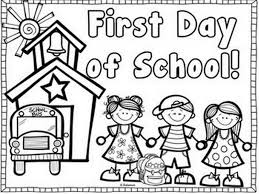 Small Picture First Day of School Coloring Pages for Kindergarten Coloring