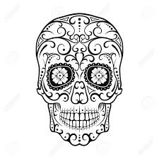 Awesome Crane Mexicain Noir Et Blanc Un T Te De Mort En Sucre Tete De Mort En Sucre Mexicaine A Colorier L