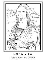 Mona Lisa Coloring Page By Msjess Teachers Pay Teachers