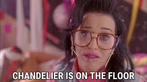chandelier is on the floor katy perry