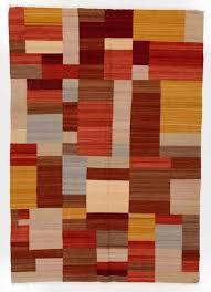 mid century modern rugs. Multicolored Flatweave Kilim Dhurrie Rug; 100% Natural Wool Mid Century Modern Rugs C