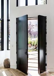 cottage style front doors27 Chic Dark Front Doors To Try For Your Entry  Shelterness