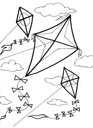 Small Picture Of Kites Coloring Page Free Download