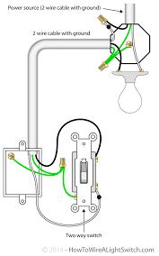 2 way switch with power feed via switch