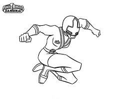 Ranger Yellow Jumping In Power Rangers Samurai Coloring Page Color