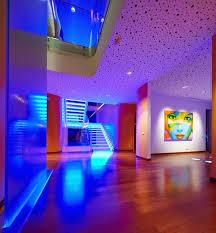false ceiling designs for living room living room with blue led lighting