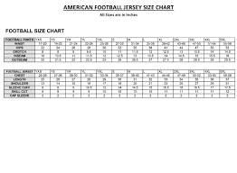 American Football Jersey Size Chart Download Printable Pdf