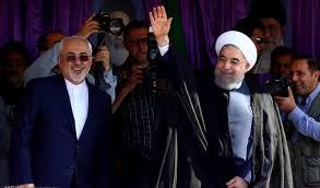 ظریف در میتینگ انتخاباتی روحانی