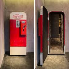 How To Open A Vending Machine Door Inspiration There's A Hidden Bar Behind This Vintage Coke Vending Machine In