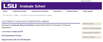 mylsu portal theses and dissertations grok knowledge base graduate school page
