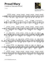 drums sheet music proud mary_ccr_drum sheet music_thumbnail music sheets drums