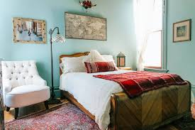 witchy bohemian victorian guest room in