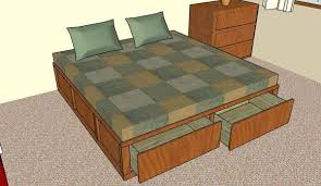 King Size Storage Bed Plans Diy Platform With How To Build A Frame ...