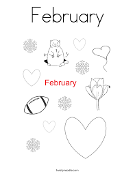 Small Picture February Coloring Pages Twisty Noodle