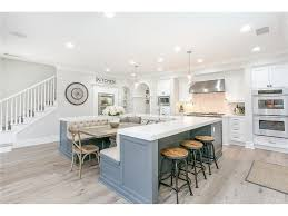 White kitchen Marble Large White Kitchen With Ushaped Island That Includes Builtin Dining Table Omega Cabinetry 40 Stunning White Kitchen Ideas handselected From 1000s Of