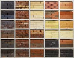 stock photo shelves with bricks of various colors brick