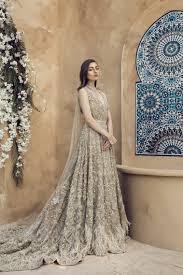 Pakistani Designer Dresses In Toronto Leternite Silver Color Beaded Pakistani Bridal Dress