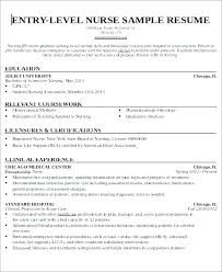 Entry Level Rn Resumes New Grad Nursing Resume Examples Hotwiresite Com