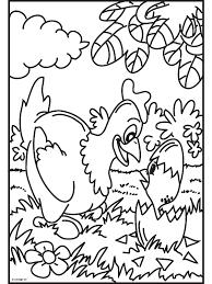 Kleurplaat Kip Pasen Tropicalweather