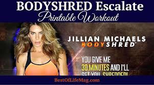 bodyshred escalate printable workout checklist