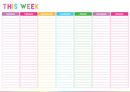 work day planner template weekly do list template
