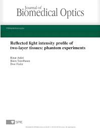 Reflected Light Intensity Pdf Reflected Light Intensity Profile Of Two Layer Tissues