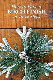 how to fake a birch finish in three tree stand diy turn galvanized bucket mini