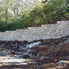 stacked stone retaining wall ideas