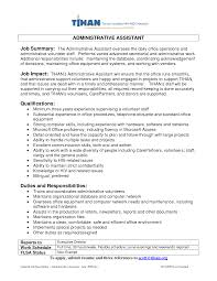 Administrative Assistant Professional Summary Samples Examples Of