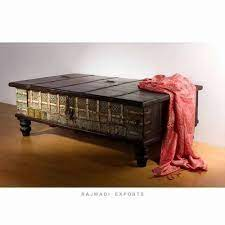 old pitara box wooden coffee table