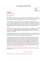 Rent Notice Letter Commercial Lease Termination Letter To Landlord Template